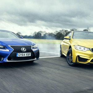 M4 vs RC-F on track