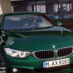 BMW british racing green