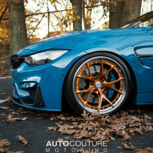 Laguna Seca Blue BMW M4 With HRE Wheels