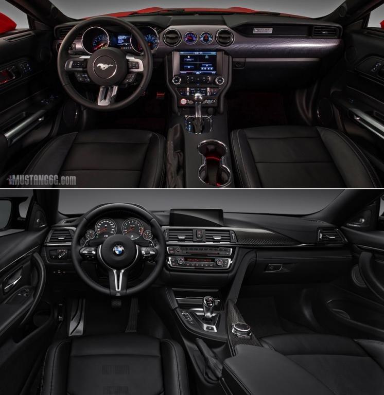2015 Mustang GT Vs BMW M4 Interior